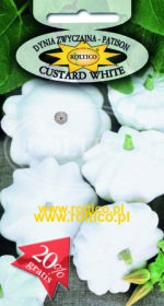 Dynia Zw. Patison biały Custard White