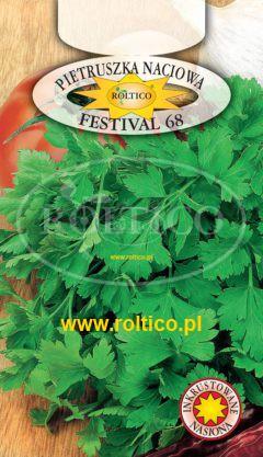 Pietruszka naciowa Festival 68 – liście gładkie