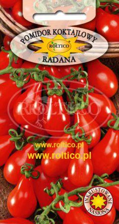 Pomidor koktajlowy (balkonowy) Radana (kształt gruszki)